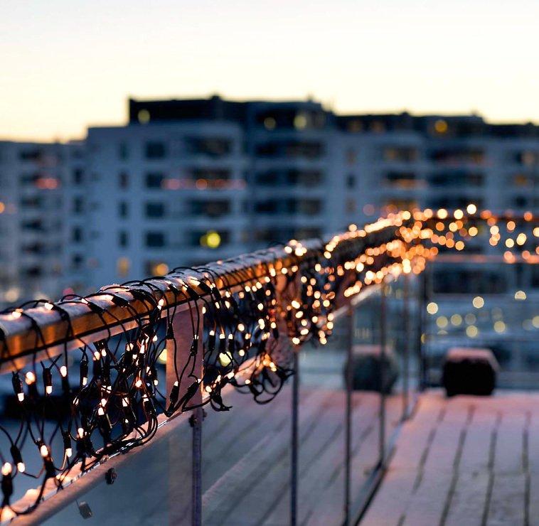 Sirius Lichterdekoration Easy-Line Netz 96 LED warmweiß 1,1 x 1m außen schwarz - Pic 2