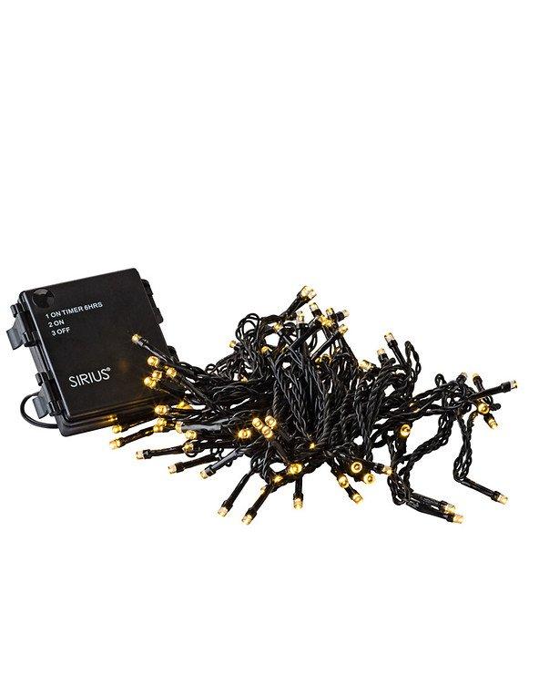 Sirius Lichterkette Time-Line 40 LED warmweiß 4 m Batterie Timer außen schwarz - Pic 4