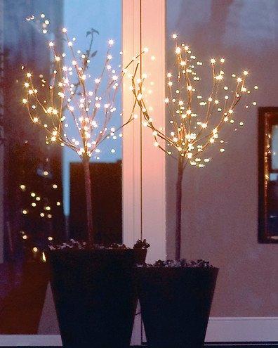 Sirius Leuchtbäume Time-Line Set 2x36 LED warmweiß batteriebetrieben außen