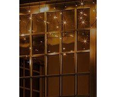 Sirius Lichtvorhang Top-Line System Eiskristall Starter Set 100 LED außen 2,5 x 0,75 m