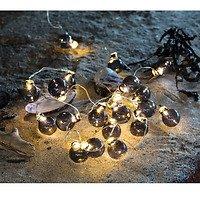 Sirius Lichterkette Io 20 LED batteriebetrieben 1,9m Glaskugeln smoke