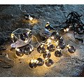 Sirius Lichterkette Io 20 LED batteriebetrieben 1,9m Glaskugeln smoke - Thumbnail 1