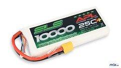 SLS Batterie LiPo Akku APL 10000mAh 3S1P 11,1V 25C+/40C