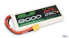 SLS Batterie LiPo Akku APL 8000mAh 3S1P 11,1V 25C+/40C