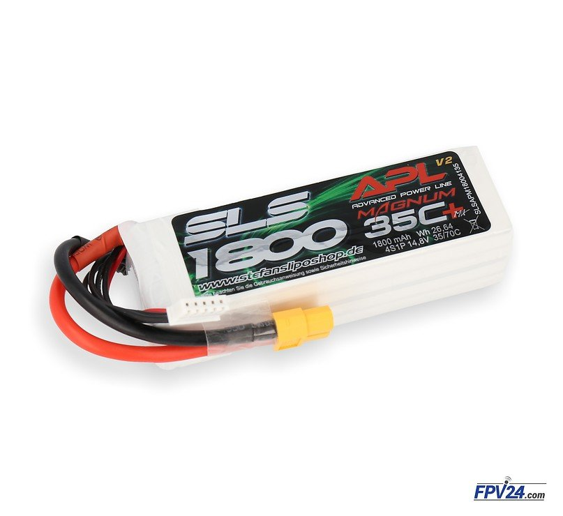 SLS Batterie LiPo Akku APL MAGNUM 1800mAh 4S1P 14,8V 35C/70C - Pic 1
