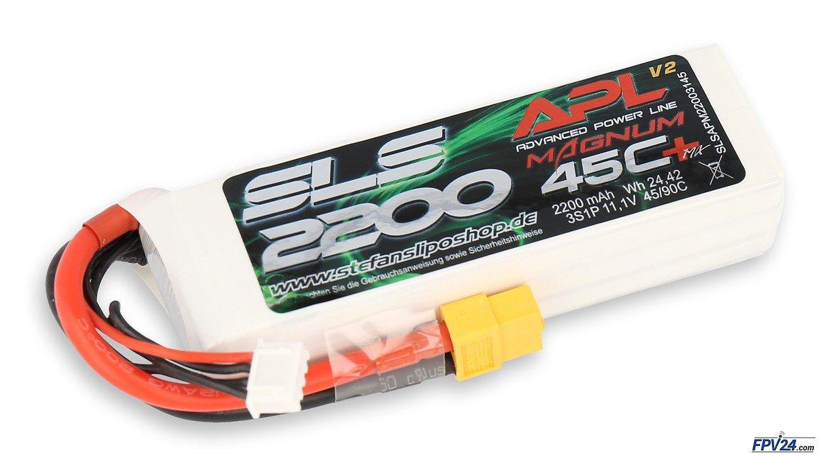 SLS Batterie LiPo Akku APL MAGNUM 2200mAh 3S1P 11,1V 45C/90C - Pic 1