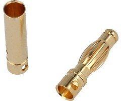 SLS Goldkontakt 4mm Lamelle 1 Stecker 1 Buchse