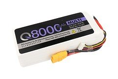 SLS Batterie LiPo Akku Quantum 8000mAh 5S1P 18,5V 30C/60C