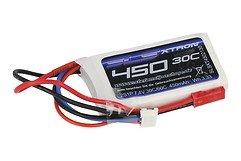 SLS Batterie LiPo Akku XTRON 450mAh 2S1P 7,4V 30C/60C