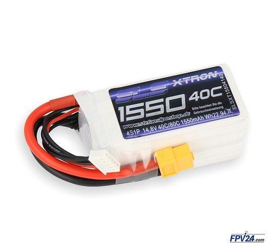 SLS Batterie LiPo Akku XTRON 1550mAh 4S1P 14,8V 40C/80C
