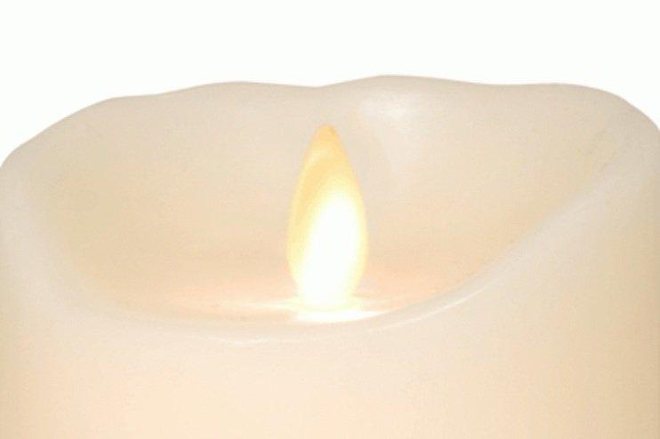 Sompex LED Kerze Flame elfenbein 8 x 12,5cm Timer und fernbedienbar