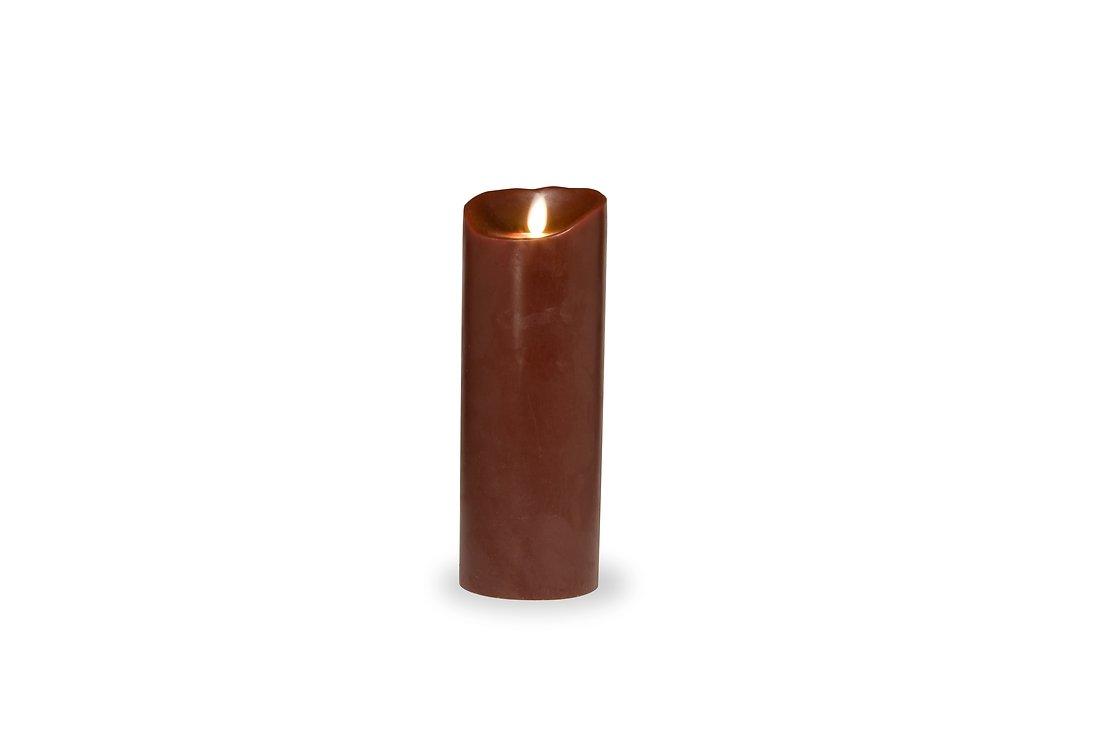 sompex led kerze flame 8 x 23 cm timer bordeaux glatt. Black Bedroom Furniture Sets. Home Design Ideas