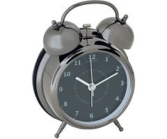 NeXtime Wecker Wake Up 9cm Metall schwarz