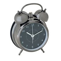 NeXtime Wecker Wake Up 12,5cm Metall schwarz