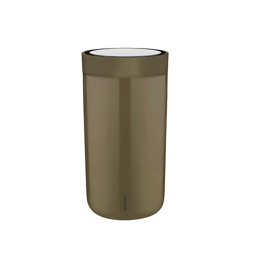 Stelton Thermobecher to go Click 200 ml Edelstahl dunkelbraun matt