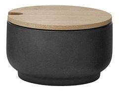 Stelton Zuckerschale Theo Keramik schwarz-matt