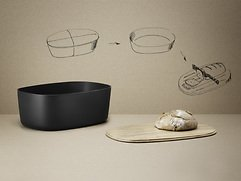 Stelton RIG-TIG Brotkasten Box-it natur schwarz