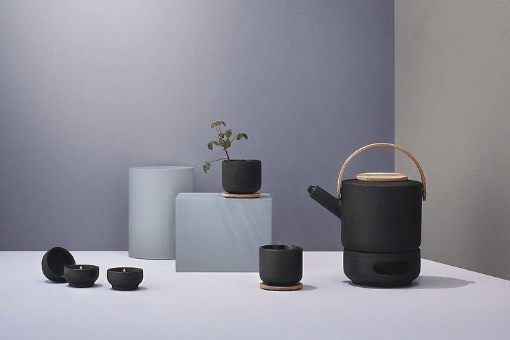 stelton teekanne theo 1 25l schwarz kaufen. Black Bedroom Furniture Sets. Home Design Ideas
