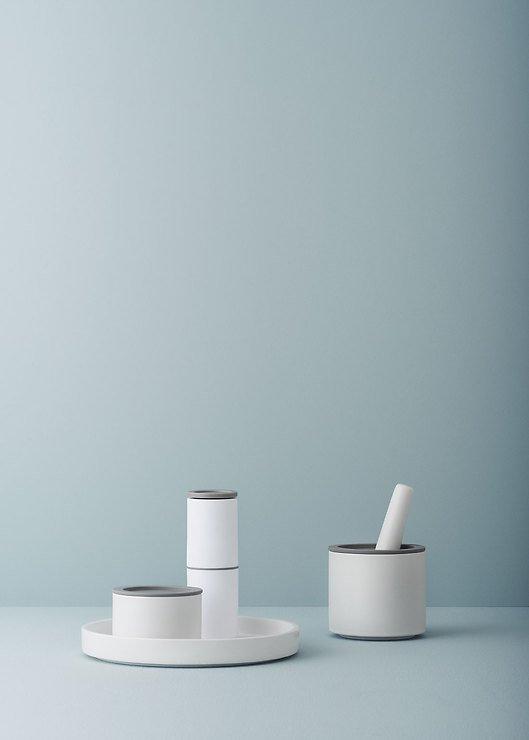 Stelton Mörser CRUSH-IT 12 x 18,5cm weiß grau - Pic 2