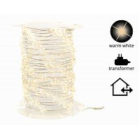 Kaemingk Lichterkette Sterne 120 Micro LED warmweiß 6m außen silber-Copy