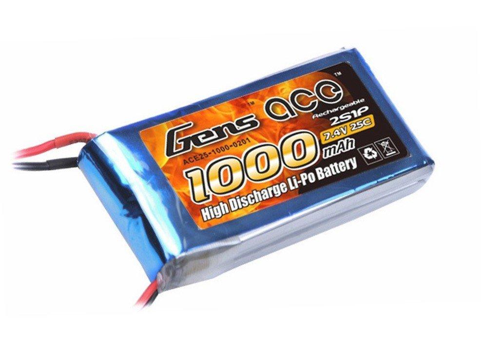 GensAce Batterie LiPo Akku 1000mAh 7.4V 25C 2S1P - Pic 1