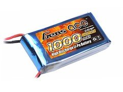 GensAce Batterie LiPo Akku 1000mAh 7.4V 25C 2S1P