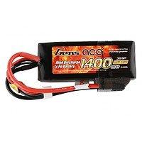 GensAce Batterie LiPo Akku 1400mAh 11.1V 25C 3S1P Lipo mit TRX Connector