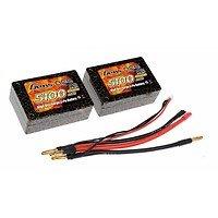 GensAce Batterie LiPo Akku 5100mAh 7.4V 25C 1S3P Saddle 12