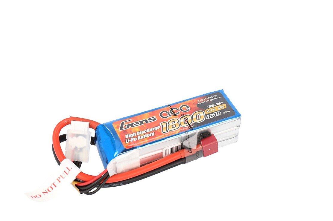 GensAce Batterie LiPo Akku1800mAh 3S1P 40C - Pic 1