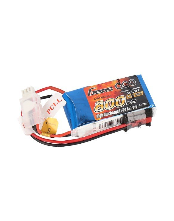 GensAce Batterie LiPo Akku 800mAh 7,4V 40C 2S1P - Pic 1