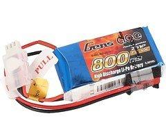 GensAce Batterie LiPo Akku 800mAh 7,4V 40C 2S1P