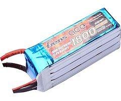 GensAce Batterie LiPo Akku 1800mAh 22.2V 45C 6S1P