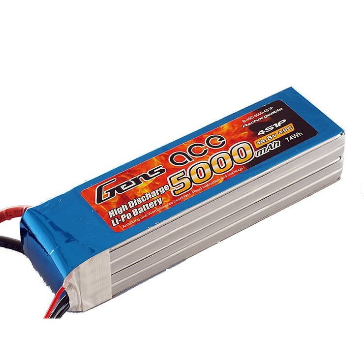 GensAce Batterie LiPo Akku 5000mAh 4S1P 45C - Pic 1