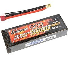 GensAce Batterie LiPo Akku 50C 5000mAh 2S1P Hardcase 10