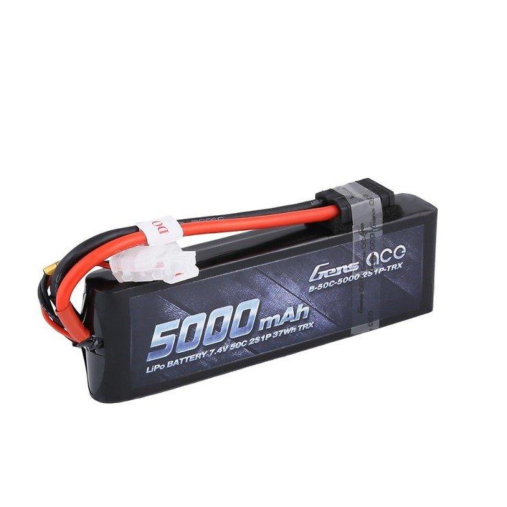 Gens ace 5000mAh 7.4V 50C 2S1P Lipo mit original TRX Connector - Pic 1