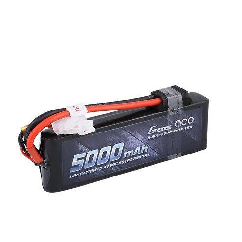 Gens ace 5000mAh 7.4V 50C 2S1P Lipo mit original TRX Connector