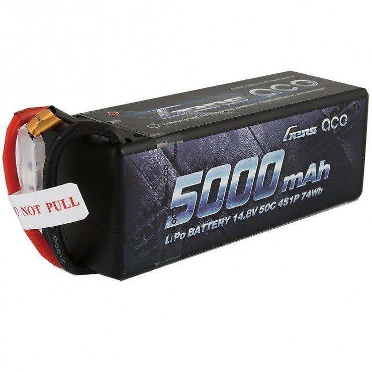 Gens ace 5000mAh 14.8V 50C 4S1P HardCase 14 - Pic 1