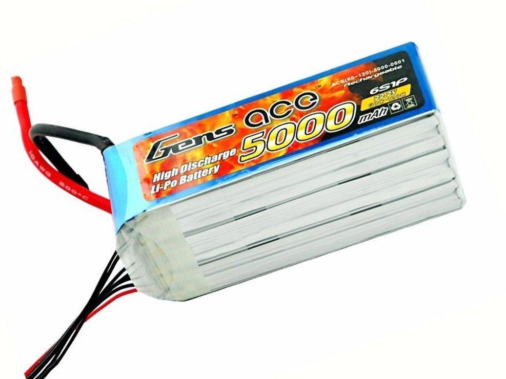 GensAce Batterie LiPo Akku 5000mAh 22.2V 60C 6S1P - Pic 1