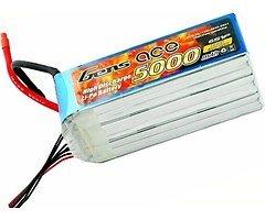 GensAce Batterie LiPo Akku 5000mAh 22.2V 60C 6S1P