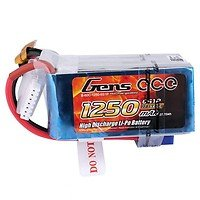 GensAce Batterie LiPo Akku 1250mAh 6S1P 60C EC3
