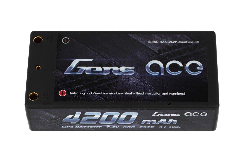 GensAce Batterie LiPo Akku 4200mAh 7.4V 60C 2S2P HardCase Lipo Akku 29 EFRA & BRC zertifiziert - Pic 1