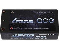 GensAce Batterie LiPo Akku 4200mAh 7.4V 60C 2S2P HardCase Lipo Akku 29 EFRA & BRC zertifiziert