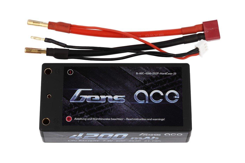 GensAce Batterie LiPo Akku 4200mAh 7.4V 60C 2S2P HardCase Lipo Akku 29 EFRA & BRC zertifiziert - Pic 2