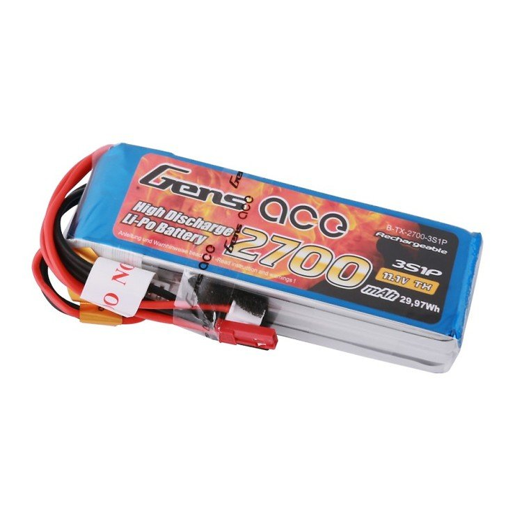 GensAce FrSky X9D Batterie LiPo Akku 2700mAh 11.1V 3S1P - Pic 4