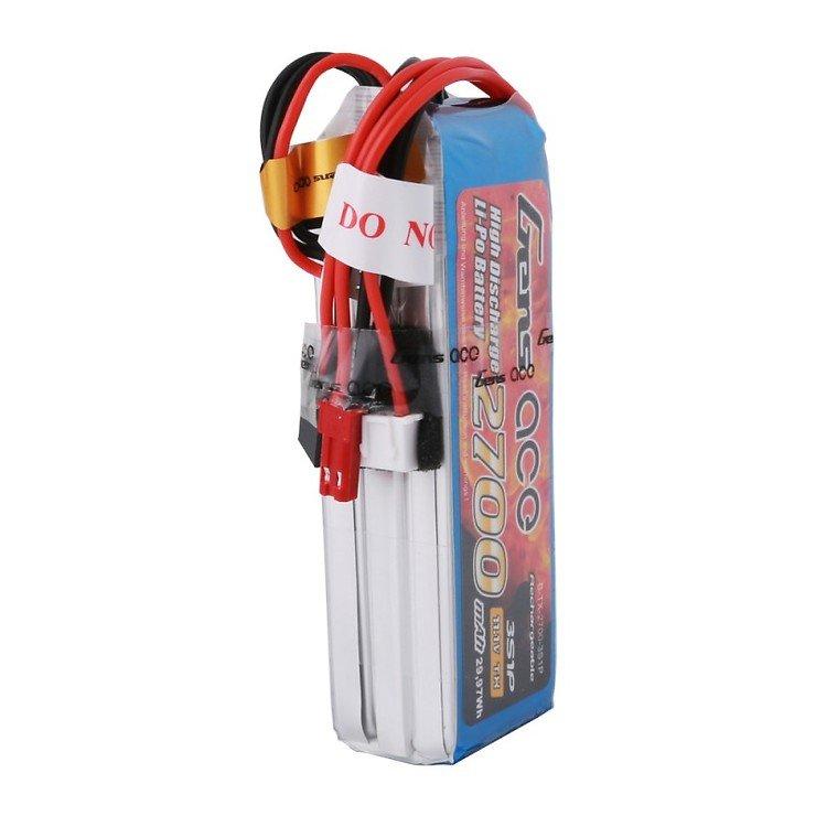 GensAce FrSky X9D Batterie LiPo Akku 2700mAh 11.1V 3S1P - Pic 3