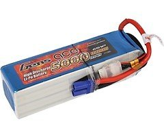 GensaAce Batterie LiPo Akku 5000mAh 22,2V 45C 6S1P