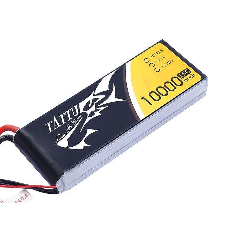 Tattu Batterie LiPo Akku 10000mAh 11.1V 15C 3S1P - Pic 1