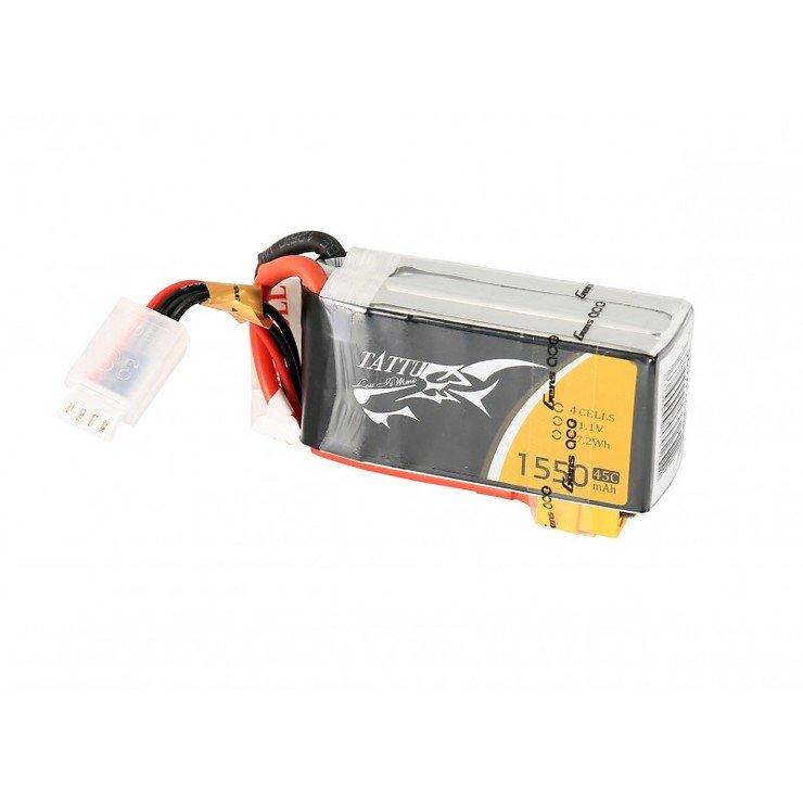 Tattu Batterie LiPo Akku 1550mAh  4S1P  14,8V 45C - Pic 1