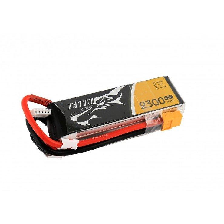 Tattu Batterie LiPo Akku 2300mAh 4S1P 14.8V 45C - Pic 1