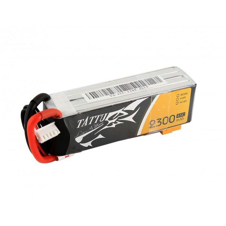 Tattu Batterie LiPo Akku 2300mAh 4S1P 14.8V 45C - Pic 2